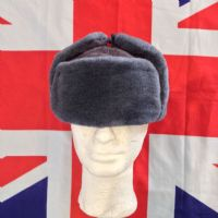 #NEW# MILITARY ARMY RUSSIAN SYNTHETIC FUR HAT SIZE 60